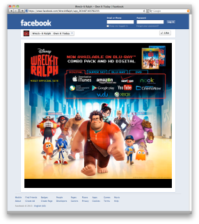 A Facebook HTML page promoting the digital download release of the Disney film. Created by Oskoui + Oskoui